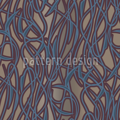 Art Nouveau Mysterious Seamless Vector Pattern