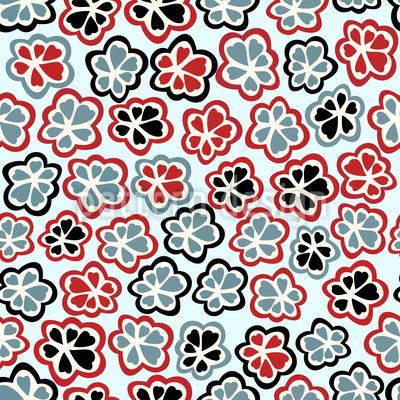Sweet Flowers Vector Pattern