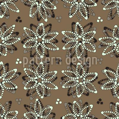 Delikate Steinchen Blumen Muster Design