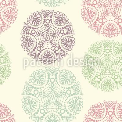 Zarte Deckchen Nahtloses Vektor Muster