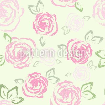 Little Roses Vector Pattern