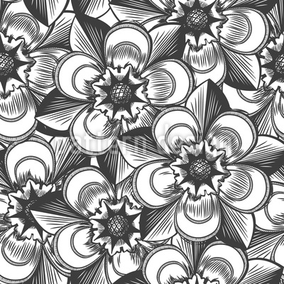 Unsterbliche Blumen Muster Design