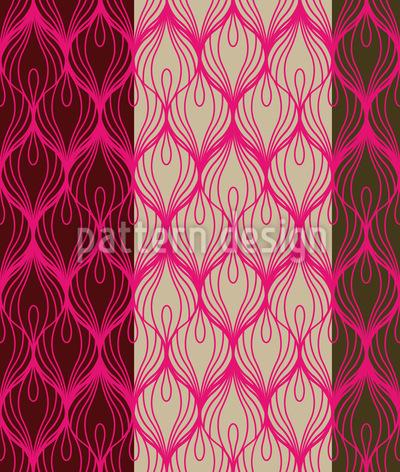 Pfau Trägt Pink Rapportiertes Design