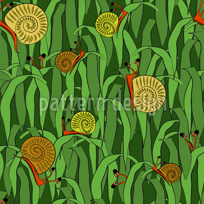 Hats Off Little Snails Vector Ornament