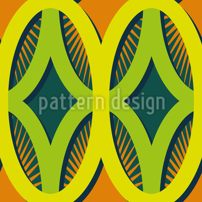 Rays In Ovals Seamless Pattern