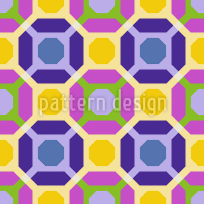 Octagon Connection Vector Pattern