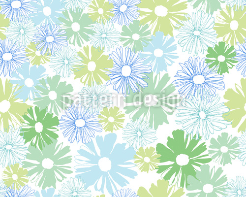 Daisies In The Morning Repeating Pattern