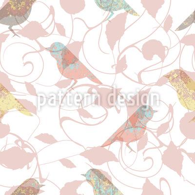 Garten Szene Muster Design
