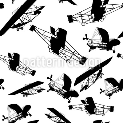 Die Flugzeuge Der Gebrüder Wright Nahtloses Vektor Muster