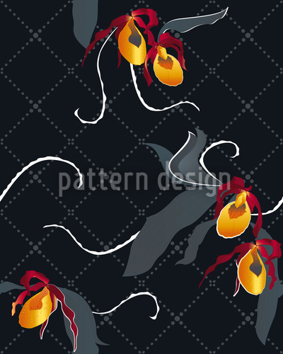 Ladiesslippers Black Seamless Pattern