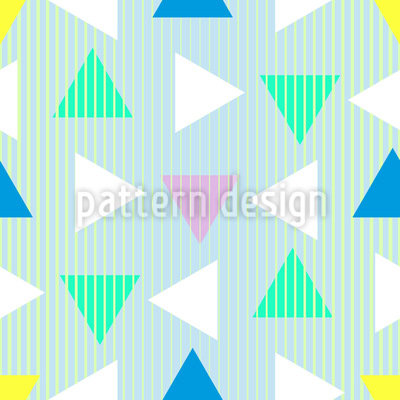 Triangles From The Eighties Seamless Pattern