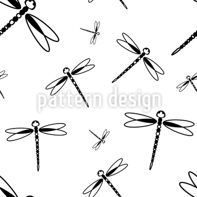 Dragonfly Swarm Repeat Pattern