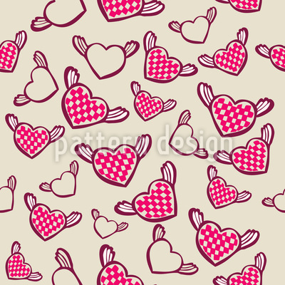 Sweet Chess Master Hearts Seamless Vector Pattern
