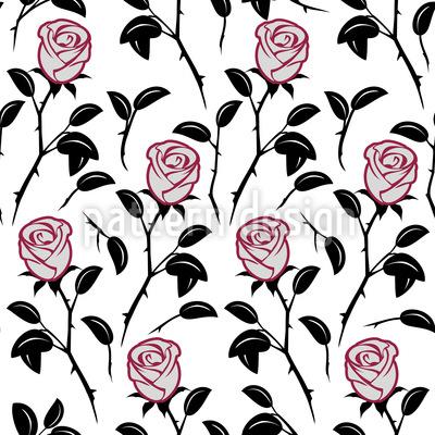 Snow White Roses Vector Design