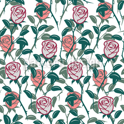 In The English Rose Garden Repeating Pattern
