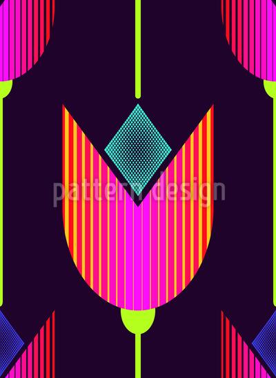 Tulip Avantgarde Seamless Vector Pattern