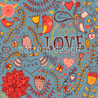 Be My Valentine Pattern Design