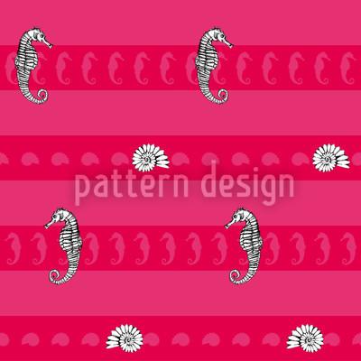 Meerestiere Pink Rapportmuster
