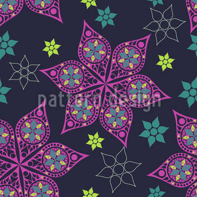 Russian Stars Pattern Design