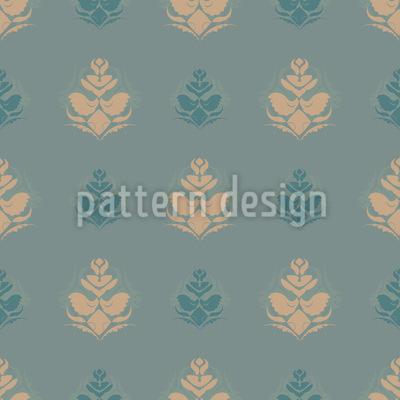 Kühle Blüten Opulenz Muster Design