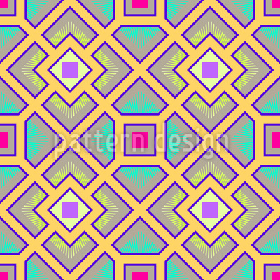 Das Quadrat Labyrinth Nahtloses Vektor Muster