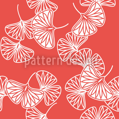 Ginkgo Rot Muster Design