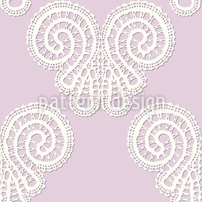 Sanfte Schmetterlingsspitze Nahtloses Muster
