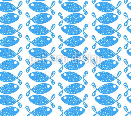 Little Fish Seamless Pattern