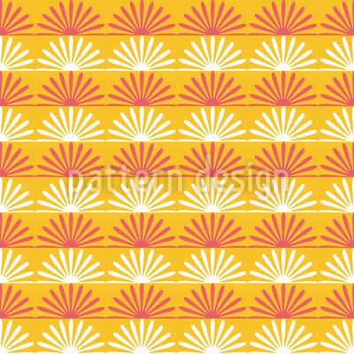 Floraler Sonnenschein Rapportiertes Design