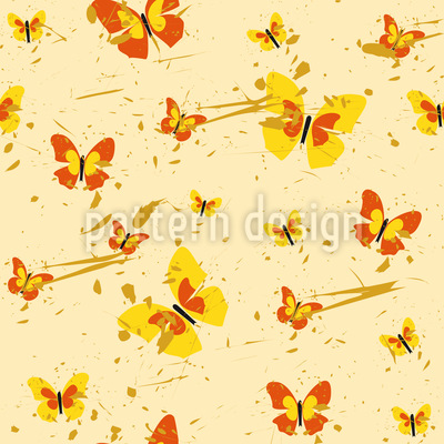 Action Painting Butterfly Repeat Pattern