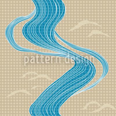 Japan River Vector Ornament