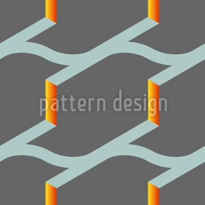 Feuer Am Dach Muster Design