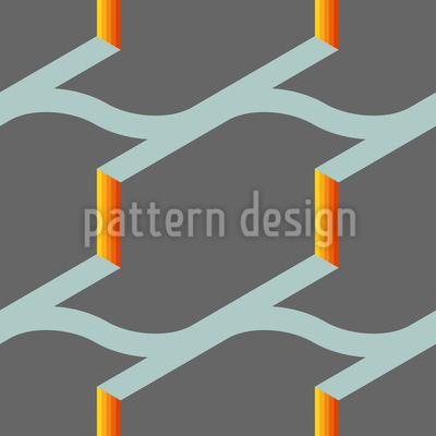 Fire On The Roof Pattern Design