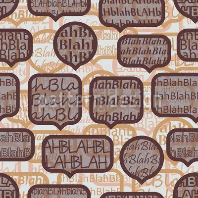 Sinnloser Kaffeeklatsch Nahtloses Muster