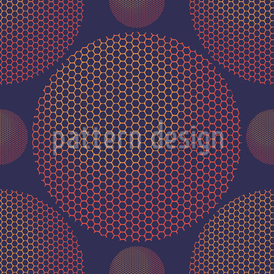 Hexagon Planetarium Pattern Design