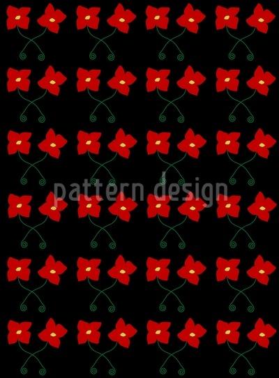 Blumen Tanzen Tango Musterdesign