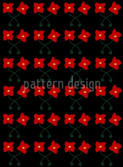 Flowers Dance The Tango Pattern Design