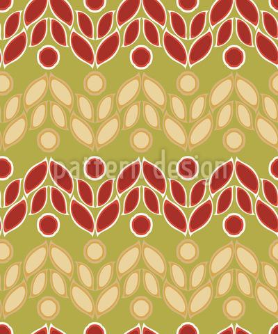 Florale Belebung Nahtloses Vektor Muster