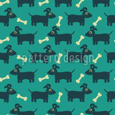 Snoopy The Bone Collector Repeating Pattern