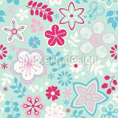 Mädchen Im Garten Muster Design