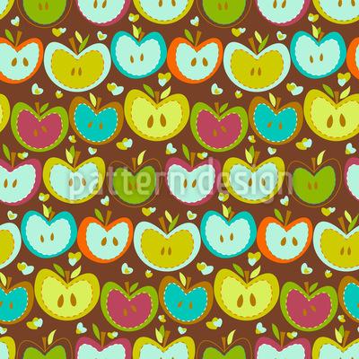 Sweet Apple Patchwork Vector Ornament