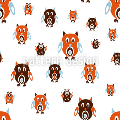 Retro Owls Vector Ornament