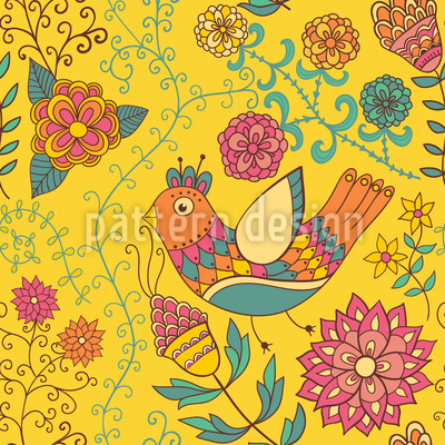 The Summer Of The Paradise Birds Vector Pattern