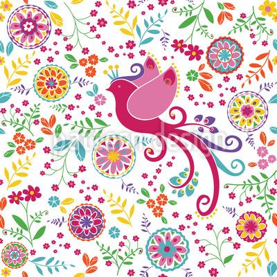 The Bird Queen In Summer Pattern Design