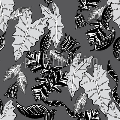 Retro Leaves Design Pattern