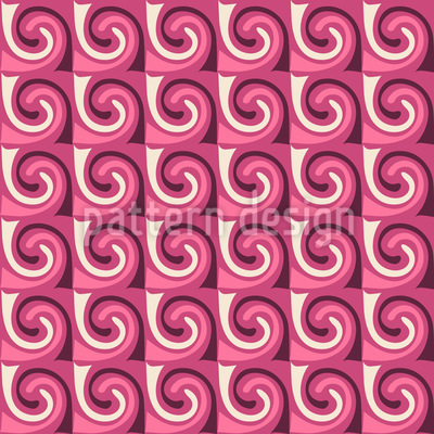 Marshmallow Waves Seamless Vector Pattern