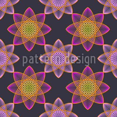 Lotus Stars Vector Pattern