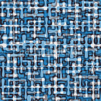Tropfen Labyrinth Musterdesign