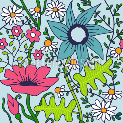 Nostalgie Garten Nahtloses Muster