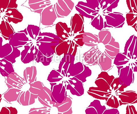 Flowers From Hawaii Pattern Design